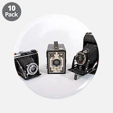 """Retro Cameras 3.5"""" Button (10 pack)"""