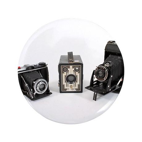 """Retro Cameras 3.5"""" Button"""