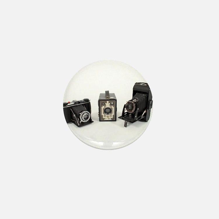 Retro Cameras Mini Button