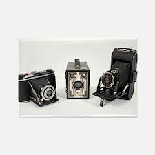 Retro Cameras Rectangle Magnet (10 pack)