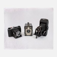 Retro Cameras Throw Blanket