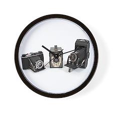 Retro Cameras Wall Clock