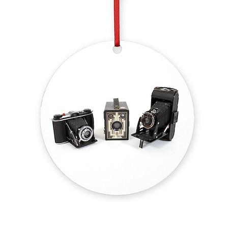 Retro Cameras Ornament (Round)