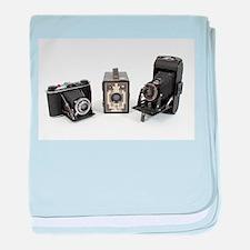 Retro Cameras baby blanket