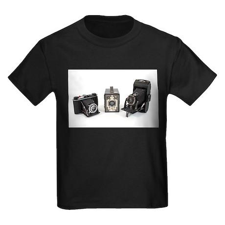 Retro Cameras Kids Dark T-Shirt