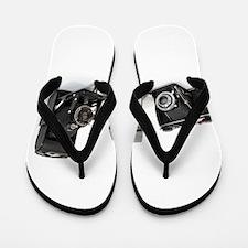 Retro Cameras Flip Flops