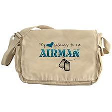 My heart belongs to an Airman Messenger Bag
