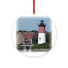 Nauset Lighthouse Ornament (Round)
