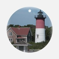 Nauset Lighthouse Ornament (Round)