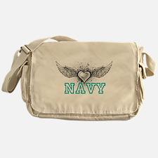 Navy + wings Messenger Bag