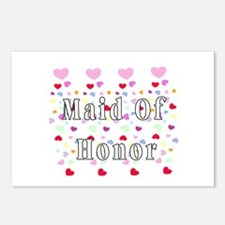 Maid Of Honor Hearts Postcards (Package of 8)