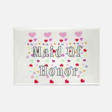 Maid Of Honor Hearts Rectangle Magnet