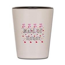 Maid Of Honor Hearts Shot Glass