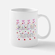 Maid Of Honor Hearts Mug