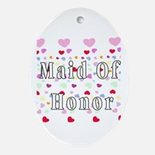 Maid Of Honor Hearts Ornament (Oval)