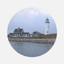 Old Scituate Lighthouse Ornament (Round)