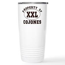 Property Of XXL Cojones Travel Mug