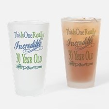 Incredible 30th Drinking Glass