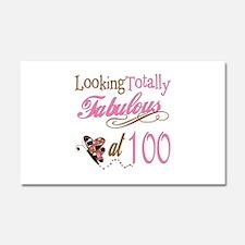 Fabulous 100th Car Magnet 20 x 12