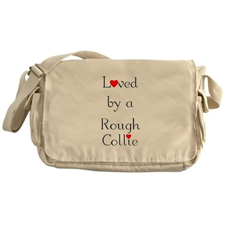 Loved by a Rough Collie Messenger Bag