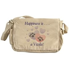 Happiness is...a Vizsla Messenger Bag