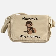 Mommy's little monkey (brown) Messenger Bag
