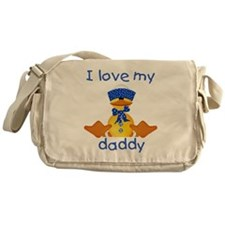 I love my daddy (boy ducky) Messenger Bag