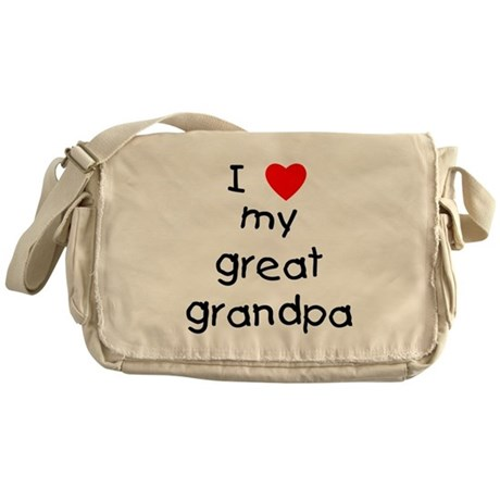 I love my great grandpa Messenger Bag