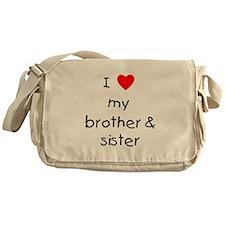 I love my brother & sister Messenger Bag