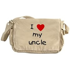 I love my uncle Messenger Bag