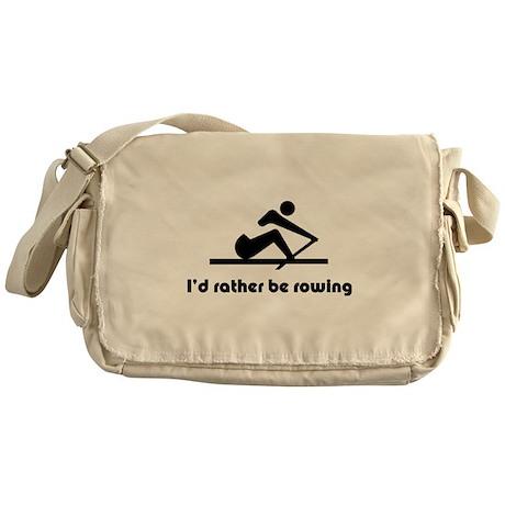 I'd rather be rowing Messenger Bag
