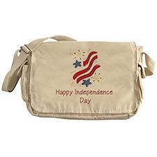 Happy Independence Day (stars Messenger Bag