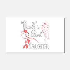 Best Daughter (Pink Hearts) Car Magnet 20 x 12