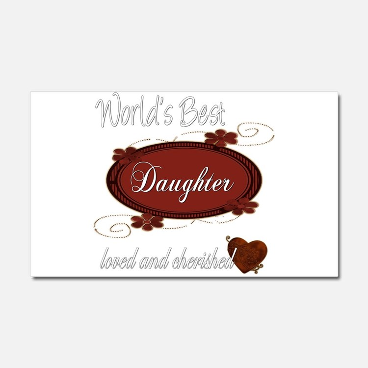 Cherished Daughter Car Magnet 20 x 12