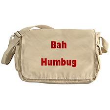 Bah Humbug (red) Messenger Bag