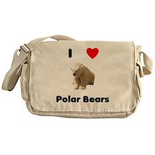 I Love Polar Bears Messenger Bag