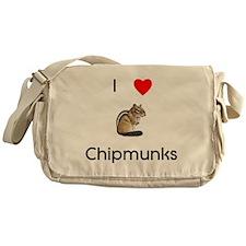 I love chipmunks Messenger Bag