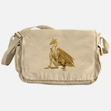 Gold Sitting Dragon Messenger Bag