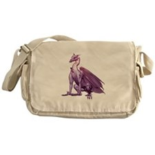 Purple Sitting Dragon Messenger Bag