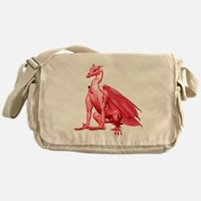 Red Sitting Dragon Messenger Bag