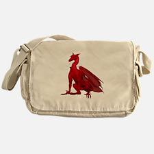 Dark Red Sitting Dragon Messenger Bag