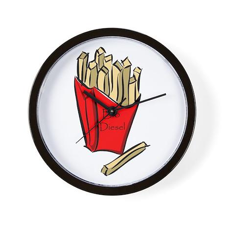 Bio diesel fries Wall Clock