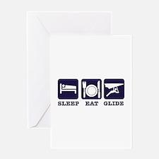 Sleep Eat Hang Glide Greeting Card