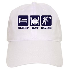 Sleep Eat Caving Baseball Cap