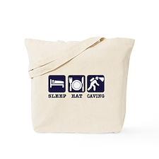 Sleep Eat Caving Tote Bag