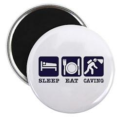 Sleep Eat Caving Magnet