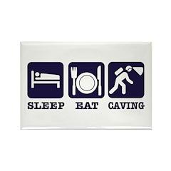 Sleep Eat Caving Rectangle Magnet