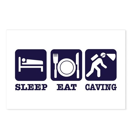 Sleep Eat Caving Postcards (Package of 8)
