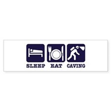 Sleep Eat Caving Bumper Sticker