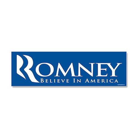 Romney - Believe in America Car Magnet 10 x 3